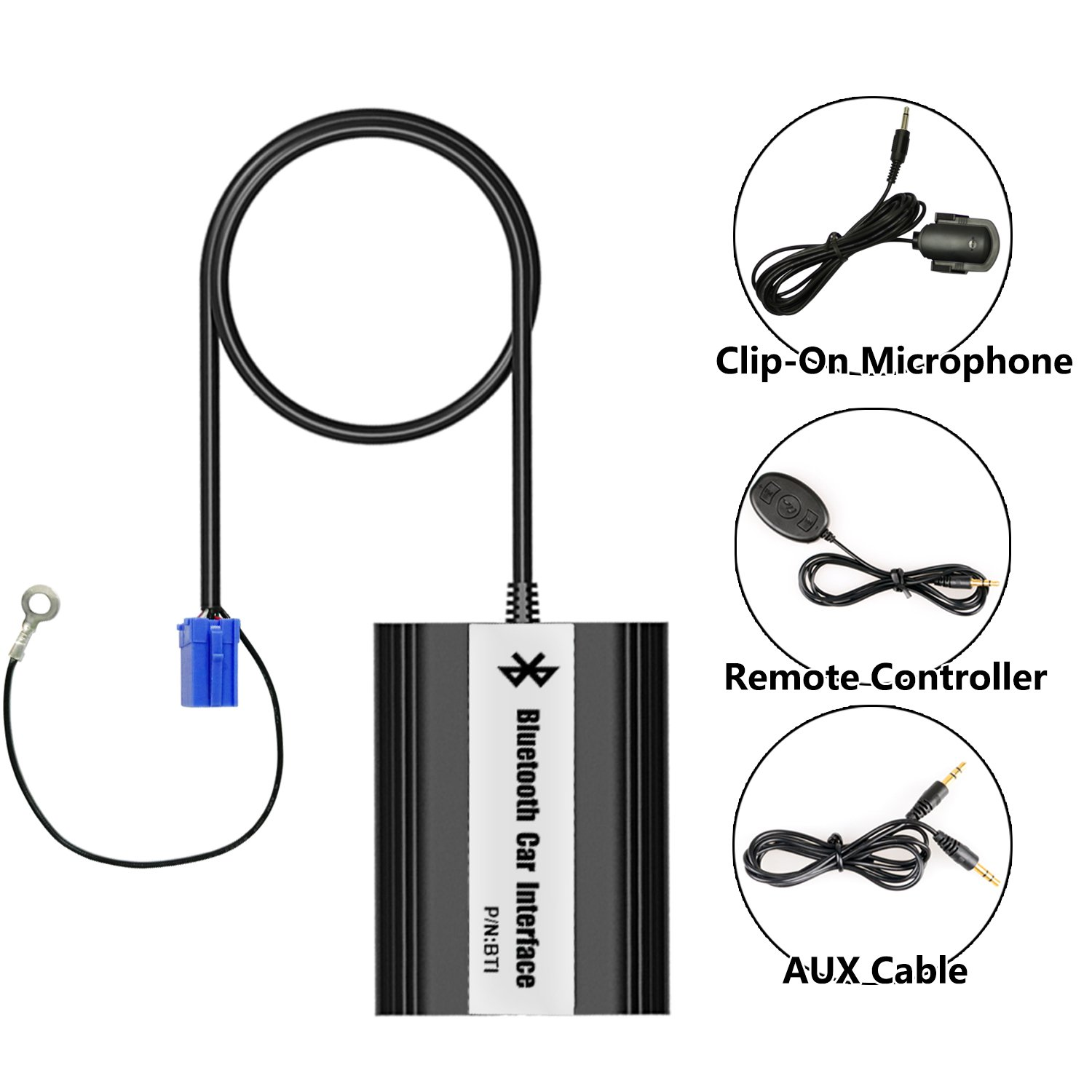 APPS2Car Car MP3 adapter with USB SD Aux Bluetooth for VW