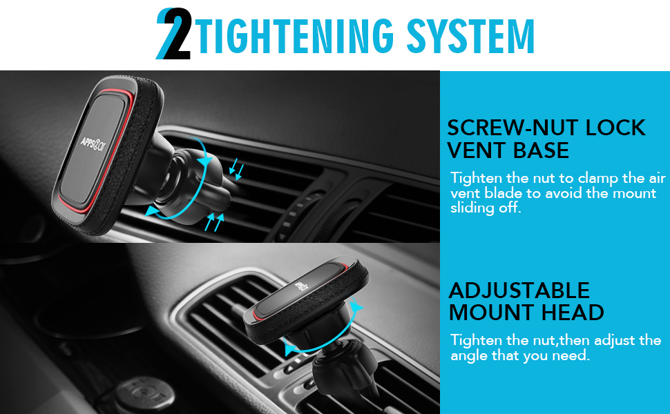 Vertical Portable Magnetic Car Air Vent Phone Holders