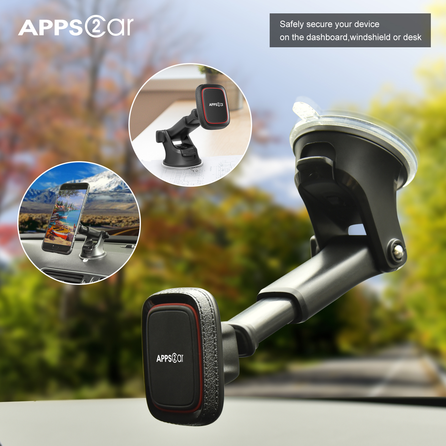 Suction Cup Cell Phone Holder For Car